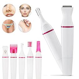 5 In 1 Electric Hair Trimmer for Eyebrows, Face, Bikini Line