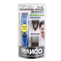 Conair 3-In-1 ALL-IN-ONE Beard, Mustache & Goatee 4-Piece Co