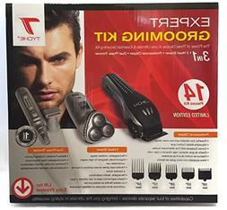 Tyche Professional 3 in 1 Grooming Kit- Clipper- 3 Head Shav