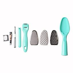 TOOGOO 9 in 1 Removable Pedicure Feet Rasps Callus Shaver Re