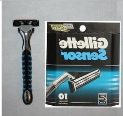 *10 Gillette Sensor Razor Blades Cartridges Refills Shaver H