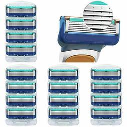 16Pcs 5-Layer Men's Razor Shaver Blades Cartridges For Gille