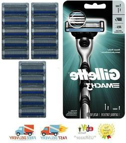 16 Refills Gillette Mach 3 Razor & 15 Blades Cartridges fit