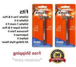 2 Gillette Trac II Razor cartridge Refills 7 o' clock PII Me