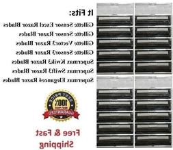 20 Cartridges Fits Vector3 Gillette Sensor Excel Razor Shave