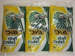 3 Pack Bic Twin Select Razors Lot Shavers Sensitive Disposab