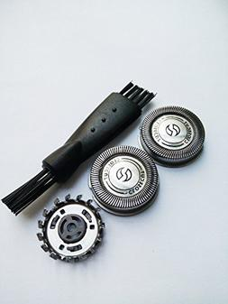 3 x Replacement Shaver Heads for Norelco Philips HQ3 HQ4+ HQ