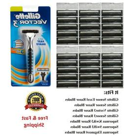 31 Cartridges Fit Gillette Sensor 3 Excel blade Razor Shaver
