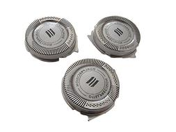 Set of 3 Double Blades Shaving Head for Phillips Norelco SH5
