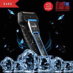 KEMEI Men Electric Dual Foil Shaver Razor Cordless Rechargea