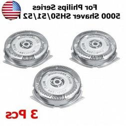 3pcs Shaver Razor Head Replacement Blades for Philips Norelc