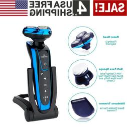 4 IN 1 Electric Razor Shaver Wet Dry Waterproof Cordless Rec
