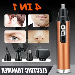 4 In 1 Rechargable Hair Eyebrow Ear Nose Beard Trimmer Elect
