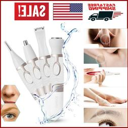4IN1 Women Epilator Eyebrow Nose Trimmer Facial Hair Clipper