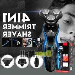 4 In1 4D Electric Razor Shaver For Mens Waterproof Cordless