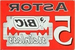 5 BIC Astor Stainless razor blades