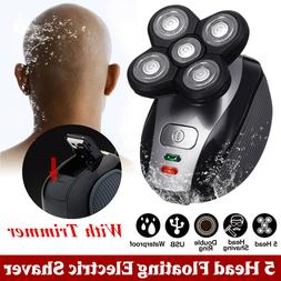 5 Head Electric Shaver Waterproof 4D Floating Head Bald Shav