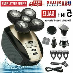 4D Rotary Electric Shaver Rechargeable Bald Head Shaver Bear