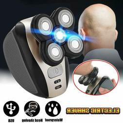 5 In 1 Men 4D Rotary Electric Shaver Rechargeable Bald Head