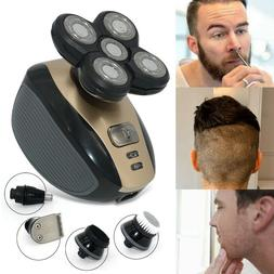5 In 1 Rotary Electric Shaver Rechargeable Bald Head Shaver