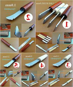 5kinds Leather Craft Edge Decorate Marking Creaser Polisher