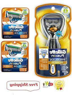 6 GILLETTE FUSION Proglide Power Flexball Razor Blades Refil