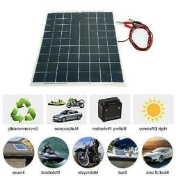 Anself 60W 12V Semi Flexible Solar Panel Device Battery Char