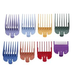 AFfeco 8 Sizes Colored Limit Comb Guide Tools Set for Electr