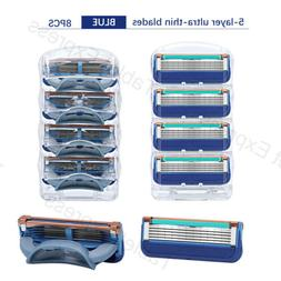 8pcs Razor Blades Shaver blade Refills for Gillette Fusion C