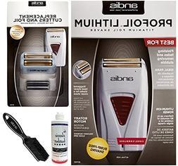 Andis ProFoil Lithium Titanium Foil Shaver, with Replacement