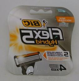 BIC Flex5 Hybrid Disposable Razor Refills, 4-Count
