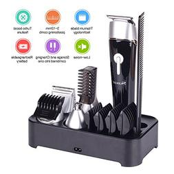 Beard Trimmer Kit with Stand Cordless Rechargeable Waterproo