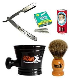 Classic Samurai Men's Shaving Set with CS102 Stainless Steel