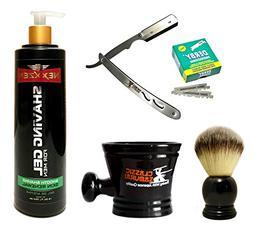 Classic Samurai Men's Shaving Set with Stainless Steel CS-10