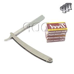 DDP PROFESSIONAL BARBER STRAIGHT EDGE RAZOR SAFETY WITH 100