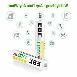 EBL 8 Pack AAA Ni-MH Rechargeable Batteries AAA Batteries Pr