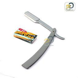 G.S MANUAL FOLDING SHAVING KNIFE BEARD CUTTER SHAVER STRAIGH