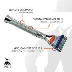 GBS Men's Grooming Deluxe 5 Blade Fusion Compatible Razor -