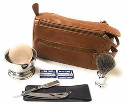 GBS Men's Shaving Gift Set For Head and Face + Bonus Cognac