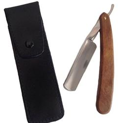 GBS Rose Wood Straight Razor - Free Leather Case