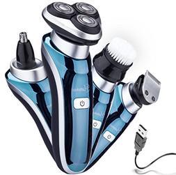 Hatteker 4 in 1 Electric Razor for Men Rotary Shavers Electr