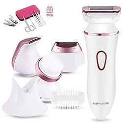 Ladies Electric Shaver, Morpilot 4 in 1 Cordless Electric Ra