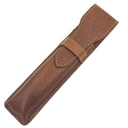 Leather Saddle Brown Protective/Travel Case for Straight, Sh