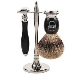 Parker 111B Safety Razor Shave Set - Includes 100% PURE Badg