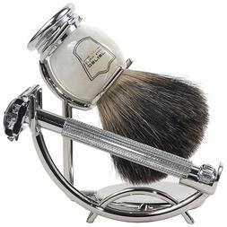 Parker 29L Safety Razor Shave Set - Includes Black Badger Br
