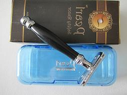 Pearl 2 Piece Safety Razor, Black