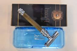 Pearl Butterfly Safety Razor, Gold & Black Mixed Aluminum Ra