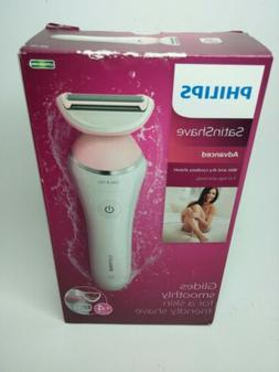 Philips - SatinShave Women's Wet and Dry Shaver - Pink, Whit