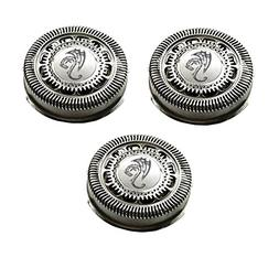SH90 Replacement Heads Set of 3 Silver Dragon Universal Smoo