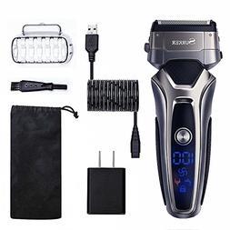 SURKER Men's Electric Foil Shaver, Cordless Electric Shaver